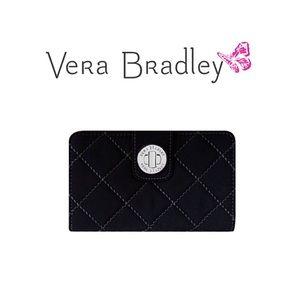 Vera Bradley black turn lock wallet